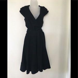 Diane Von Furstenberg Black Wrap dress.